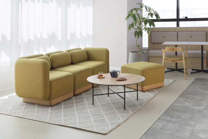 TOFFEE LOWBACK 3seater